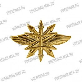 Эмблема петличная Войск Связи (новая) защитная