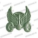 Эмблема петличная Космические войска (новая) золотая