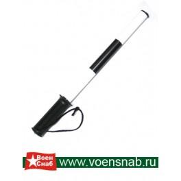 Жезл ДПС пластиковый, со светоотражающей пленкой, резиновая ручка