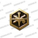 Эмблема петличная Медицинская служба (левая и правая, новая) золотая