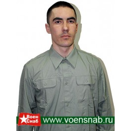 Рубашка форменная оливковая, с длинным рукавом