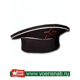 Фуражка сувенирная ВМФ    чер/бел
