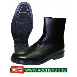 Полусапоги  мод. 58НМ/ТУНМ кожаные офицерские натур. мех