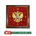Часы сувенирные с вышивкой герб России