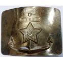 Пряжка с якорем и звездой солдатский ремень