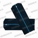 Погоны ВВС на пластиковой основе, синие с 1 голубым просветом