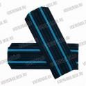 Погоны ВВС на пластиковой основе, синие с 2 голубыми просветами