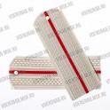 Погоны МО белые, 1 красный просвет, картон.